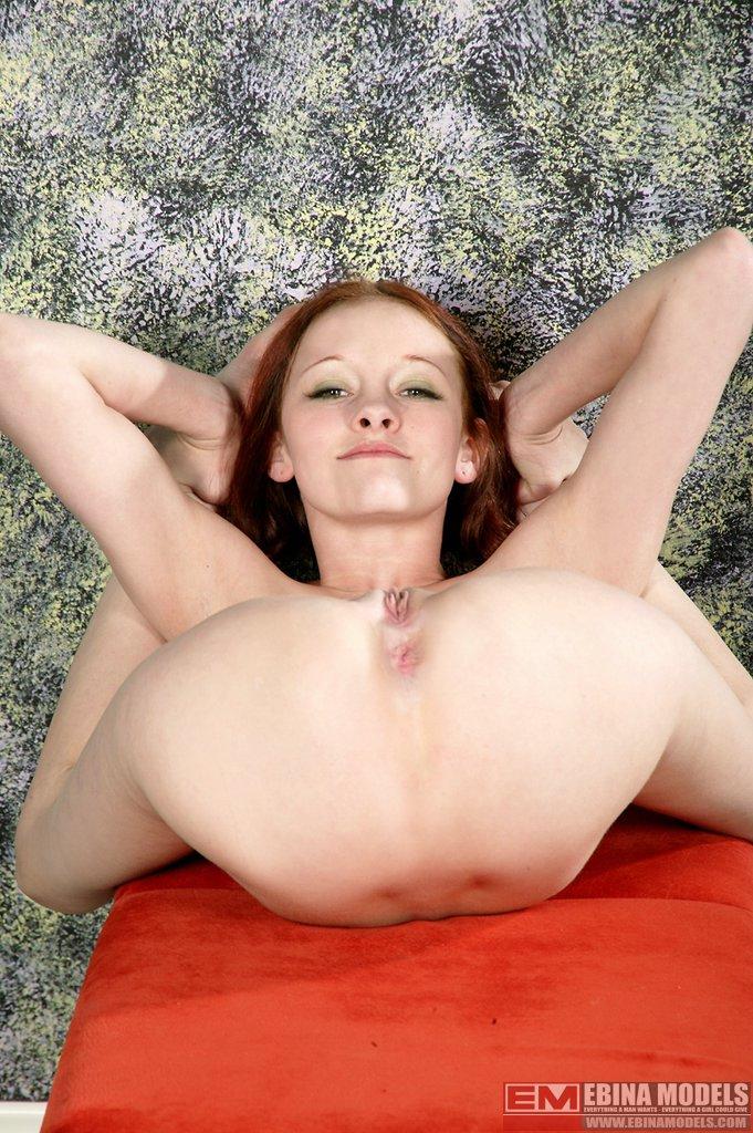 Girl spread pussy selfie